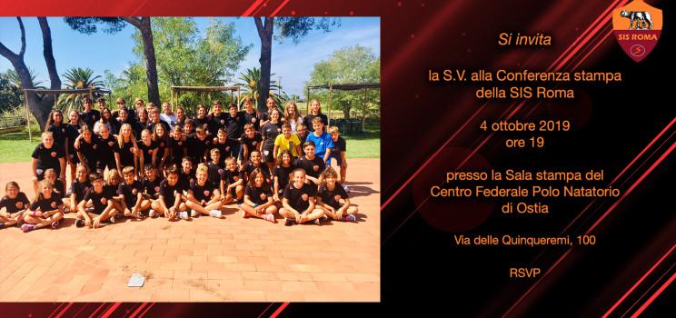 Invito conferenza stampa annuale SIS ROMA: pre stagione 2019/2020